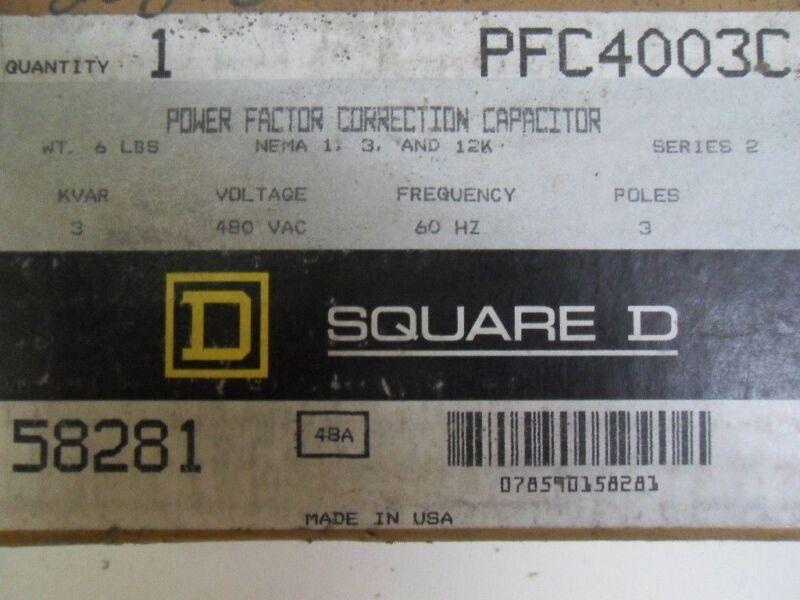 (H15) 1 SQUARE D PF4007C CAPACITOR