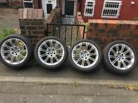 Bmw e60 mv2 alloy wheels and Runflat Tyres - 520 525 530 535 run flat flats cars alloys rims