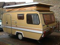 Sprite Compact 3 berth caravan 1981