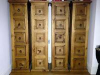CD STORAGE mexican pine 5 drawer units GREAT CONDITION rustic distressed look FIVE AVAILABLE
