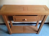 SOLID WOOD CONSOLE TABLE WITH DRAWER IN EXCELLENT CONDITION