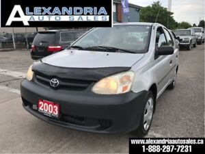 2003 Toyota Echo auto/air/128km/safety included/excellent on gas