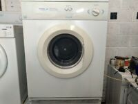 6KG WHITE KNIGHT SENSORDRY VENTED TUMBLE DRYER WITH PIPE IN WHITE