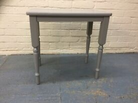 Occasional grey/silver solidwood side table