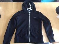 Blue superdry zip up hoodie
