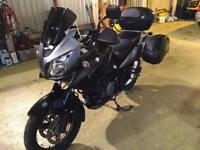 2008 SUZUKI V STROM DL 1000 K7 GT MOTED 1 YEAR TOP BOX AND PANNIERS PRIVATE PLATE
