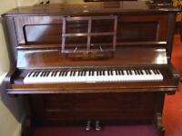 Knauss upright piano for sale. Great quality German piano with lovely sweet tone