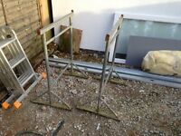 Builders Tressels with 4 x timber boards and 4m ladder board