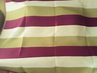 Purple striped Designer Remnant Fabric for Curtains/ upholstery/ upcycling/ sewing/ crafts