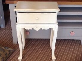 Sweet little side table with drawer