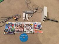 Nintendo Wii console & 5 games