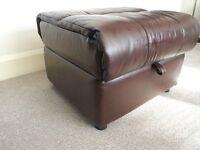 leather pouffe/foot stool/storage box furniture village