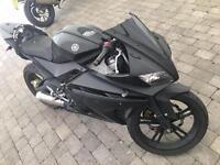 2008 Yamaha Yzf R 125 Matt black *Scorpion Exhaust* ybr125 yzf125 nt CBR125 Ktm125