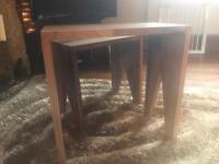 Stack of two beautiful wooden tables
