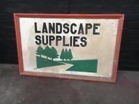Large vintage wooden sign