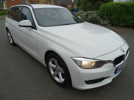 2012 BMW 320D SE TOURING 2.0 DIESEL WHITE ESTATE ECO BLUETOOTH STOP/START LOOK