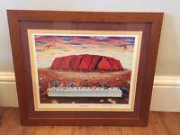 'Last Supper at Uluru' by Sam Wortelhock, framed art