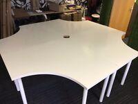 "4 x IKEA ""ADILS/LINNMON"" Corner Table / Desk - Job Lot"