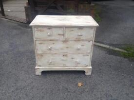 Victorian shabby chic pine draws
