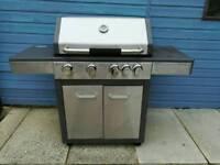 BBQ 4 burner, hot plate & side burner