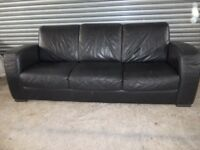 Genuine Natuzzi Italian Black Leather 3+2-seater Suite (Sofa)