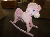 PINK LOVELY GIRLS ROCKING HORSE ONLY £5