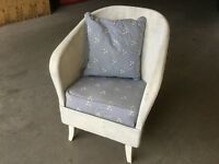Vintage Lloyd Loom Style Chair with Sprung Seat. Hand Painted
