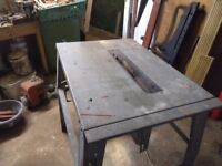 Power saw in bench