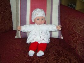 12 inch soft body Doll with Christmas Outfit