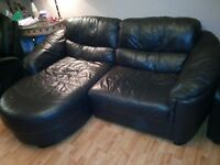 Free Free brown leather corner sofa first come first is serve. no reserving