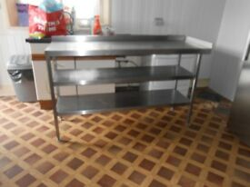 5 Stainless Steel Tables all different sizes bundle