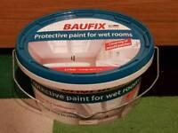 Baufix White 2.5L Protective Paint for Wet Rooms