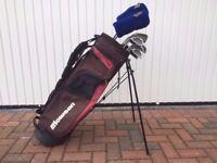 Left Handed Golf Club Set & Bag