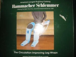 Hammacher Schlemmer The Circulation Improving Leg Wrap. Remote. Adjustable Hook and Loop Closure. Improve Circulation