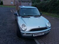 2003 MINI Hatch 1.6 One 3dr Manual @07445775115