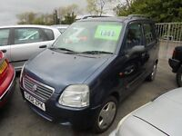 SUZUKI WAGON R+ 1298cc GL AUTOMATIC 5 DOOR MINI MPV 2002-02, LOOK ONLY 1 OWNER FROM NEW
