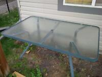 glass and metal patio table free!