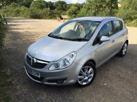 Silver Vauxhall Corsa for sale £2600.