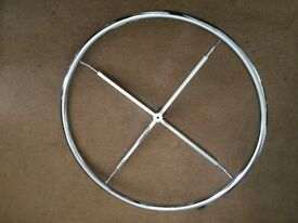 "Circular Chrome Clothes RAIL ONLY, 33"" diameter, New"