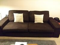 IKEA Kivik 3-Seater Sofa (Brown)