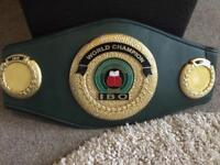 IBO world title boxing championship belt