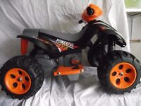NEW EX DISPLAY Scream 6v Foot Accelerator Ride-on Electric Quad Bike.