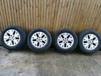 16 inch Volkswagen Transporter Highline alloy wheels with good tyres