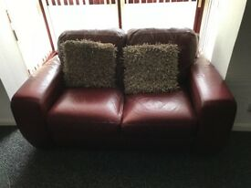 2 Leather sofas, excellent condition 3 and 2 seater