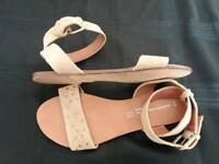 Next jewelled beige sandals