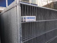 🌟 Heras Straight Top Fencing ♦♦ Brand New ♦♦ 50 Panels, Feet & Clips
