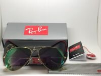Ray-Ban Aviator Brand New Gold Sunglasses with Leather Case and all Boxing