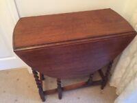 """ORIGINAL """"BARLEY TWIST"""" GATE LEG TABLE - SOLID OAK circa 1920/1930"""