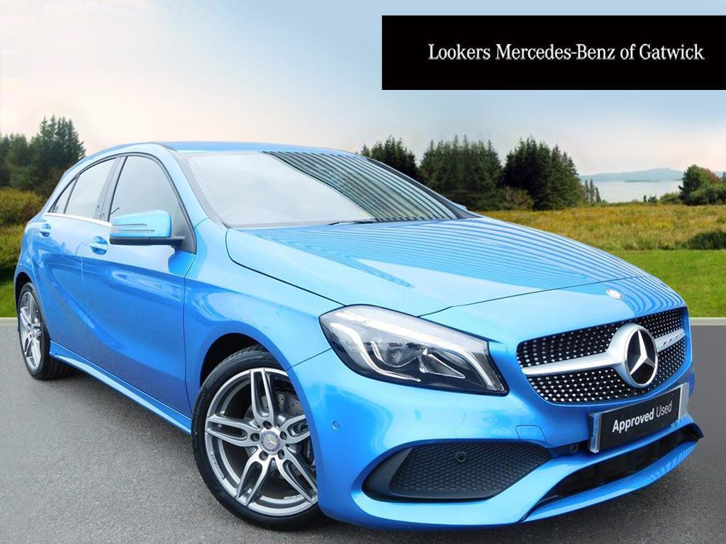 mercedes benz a class a 180 d amg line premium blue 2016. Black Bedroom Furniture Sets. Home Design Ideas
