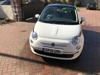 Fiat 500 2010 1.2l - VERY low mileage: 9,600. Perfect condition, full service history, only 1 owner